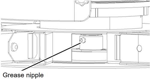 ディスクの回転軸(RO-Mモデル,RO-MEWモデル)