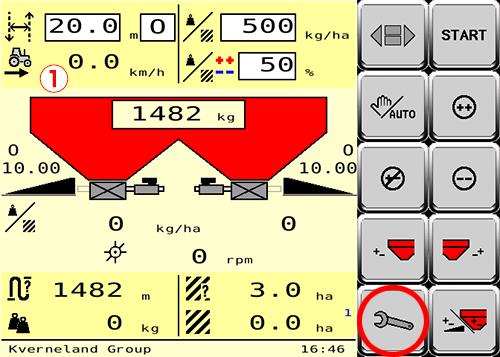 ①モニターに表示される車速の設定